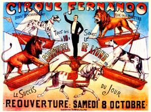 affiche du Cirque Fernando - affiches de Cirque