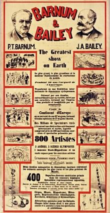 Barnum en France - affiche Barnum