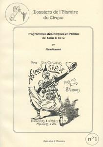 Programmes de Cirque -Alain Simonet, auteur de Cirque