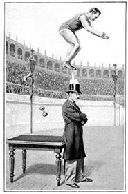 Un saut étonnant par Higgins - sauteur aux haltères