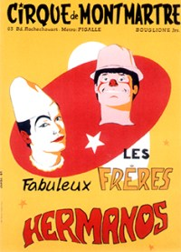 Affiche des Frères Hermanos par Dominique Jando