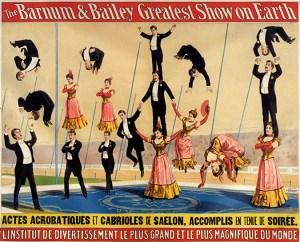troupes d'acrobates de Barnum & Bailey Circus
