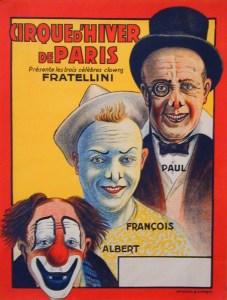 affiche des Fratellini au Cirque d'Hiver