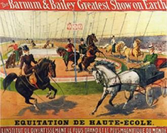 Barnum & Bailey - affiche de la tournée française Barnum