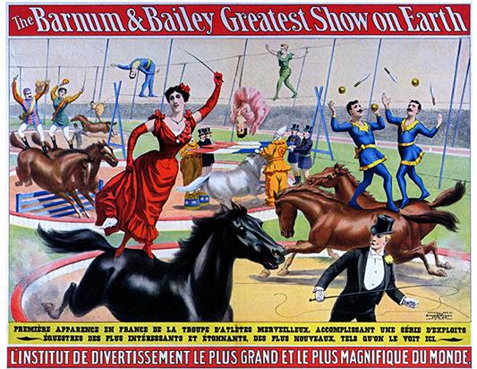 affiche de Barnum & Bailey Circus en 1902