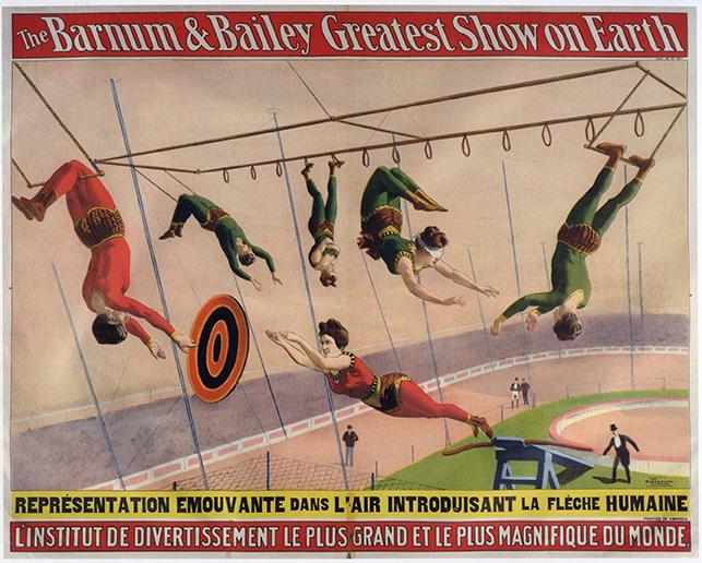 Le ballet aérien de Barnum & Bailey Circus