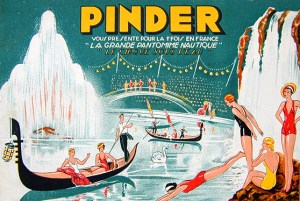 Affiche de la pantomime nautique au Cirque Pinder