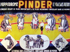 Affiche du repas des éléphants