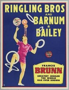 Le jongleur Francis Brunn - Lexique du Cirque