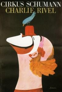 Affiche de Charlie Rivel au Cirque Schumann - Acrobat oh !