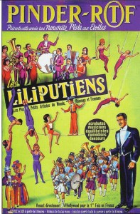 La troupe d'artistes lilliputiens de Bob Herminés au Cirque Pinder