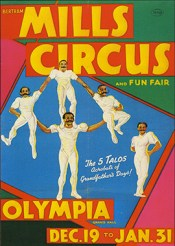 Old time comedy acrobat - Circus Dictionary