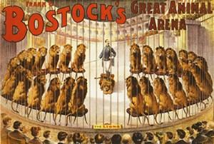 Cage entrée de Bostock - Circus Dictionary