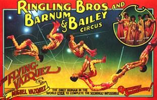 Quadruple somersault Circus Dictionary