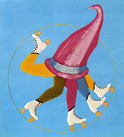 Patineurs à roulettes au Cirque