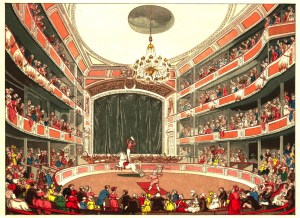 L'intérieur d'Astley en 1804 - Astley