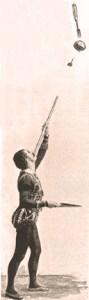 Cinquevalli - exercice de la sarbacane