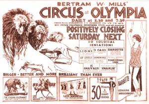 Annonce : Barbette au Cirque B. Mllls