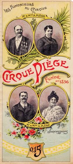 Couverture du Cirque Plège - Antoine Plège