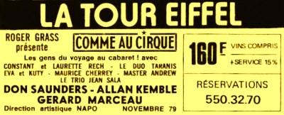 Allan Kemble à la Tour Eiffel - Kemble
