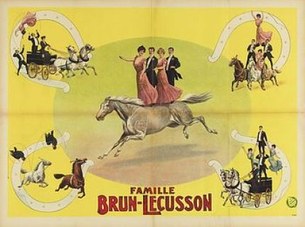 La troupe Brun - Lecusson - acrobates à cheval