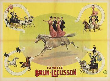 La troupe Brun-Lécusson - Année 1903