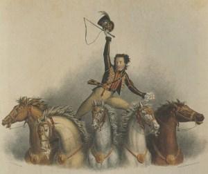 La Poste par Andrew Ducrow - acrobates à cheval