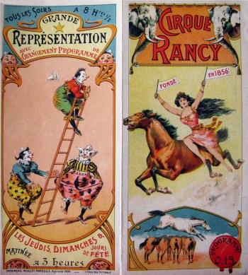 Programme du Cirque Alphonse Rancy - Année 1903