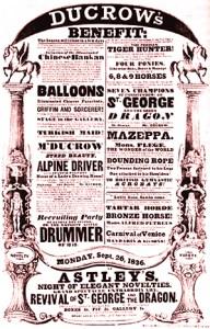 Affiche du Cirque Astley en 1836 - Andrew Ducrow