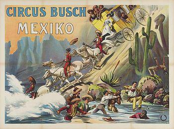 La pantomime Mexico - Année 1905