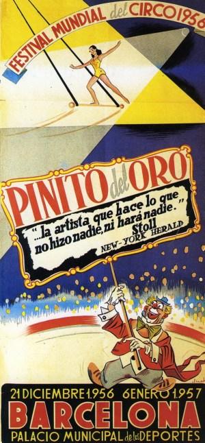 Pinito del Oro à Barcelone - affiche