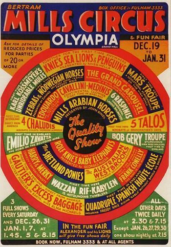 Spectacle du Bertram Mills Circus avec Karl Kossmayer
