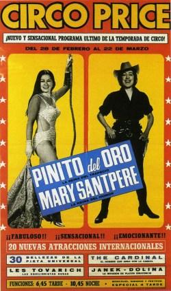 Pinito del Oro au Circo Price - affiche