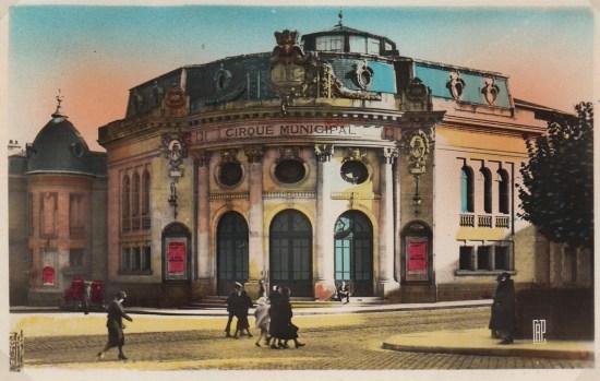 Façade du Cirque de Limoges - CPA.