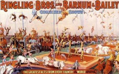 Affiche du Ringling Bros and Barnum & Bailey Circus - Concello