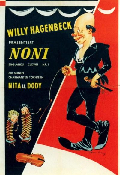 Affiche du Cirque Willy Hagenbeck - Noni