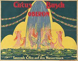 Fontaines lumineuses au Cirque Busch en 1919
