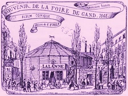 Cirque Lalanne à Gand en 1865 - Llanne