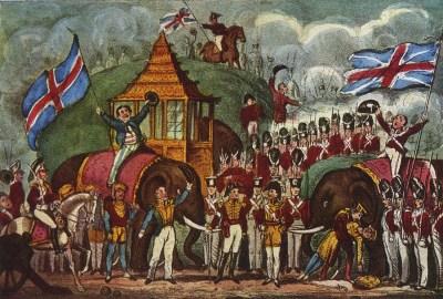 La guerre en Birmanie - pantomime de Cirque