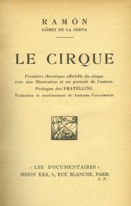 Le Cirque - Ramon Gomez de la Serna