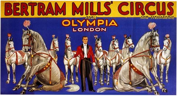 Affiche du Bertram Mills Circus en 1934 - Bertram W. Mills