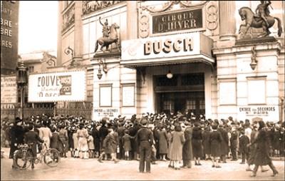 Busch au Cirque d'Hiver en 1940 - Sampion Ier Bouglione