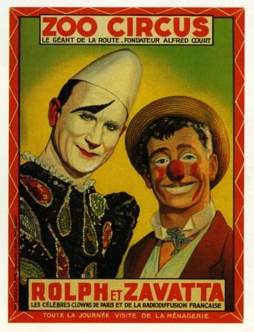 Rolph et Achille Zavatta - affiche Frederico Zavatta