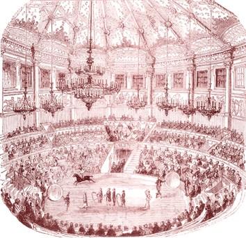 Le lustre du Cirque Napoléon - François Baucher
