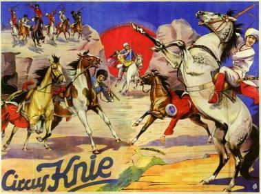 les Tcherkesses au Cirque Knie - quatre frères Knie