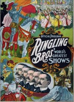 Programme de Ringling - Année 1907