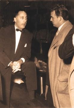 Jérôme Medrano et le Prince Rainier III à Medrano