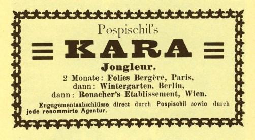 Annonce publicitaire -  collection H. Saguemüller