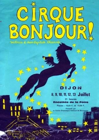 Cirque Bonjour - affiche