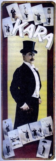 Le jongleur Kara - affiche en couleur